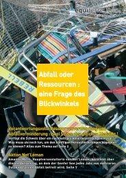 Abfall oder Ressourcen : eine Frage des Blickwinkels - Equiterre