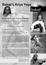 Download pdf program - Babaji's Kriya Yoga