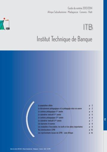 [pdf] - Afrique - ITB - Guide de rentrée 2013-14 - CFPB