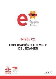 Modelo de examen nivel C2 2012 (PDF - 2,09 Mb) - Dele