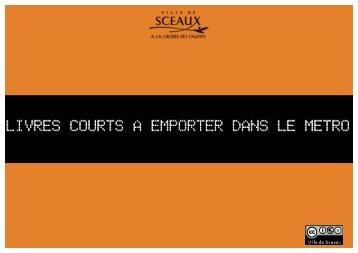 Livres courts - Bibliothèque municiaple de Sceaux