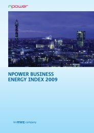 Business Energy Users Survey - Winter 2008/09 - Moffatt Associates