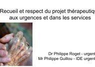 Projet thérapeutique urgences et serv [Mode de compatibilité] - Anfh