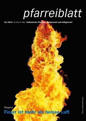 Pfarreiblatt Nr. 10/2013 - Pfarrei St. Martin Adligenswil