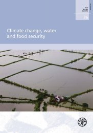 Climate change, water and food security • FAO Water ... - Hydrology.nl