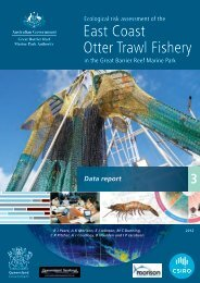Data report - Great Barrier Reef Marine Park Authority