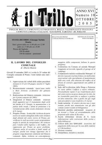 ANNO XVI Numero 10 OTTOBRE 2 0 0 5