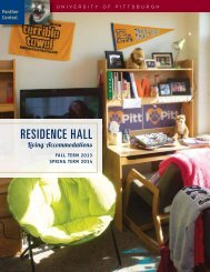 RESIDENCE HALL - Panther Central - University of Pittsburgh
