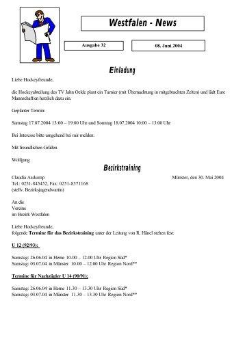 Westfalen-News 32 (08. Juni 2004)