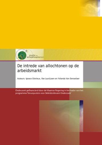 (2008) , De intrede van allochtonen op de arbeidsmarkt
