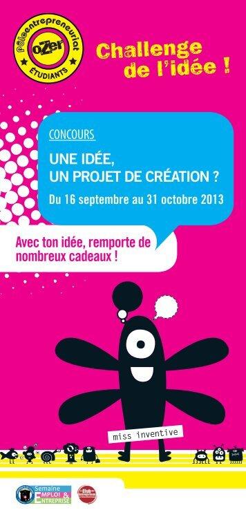 Challenge de l'idée ! - Université de Savoie