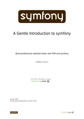A Gentle Introduction to symfony (pdf) - Bad Request