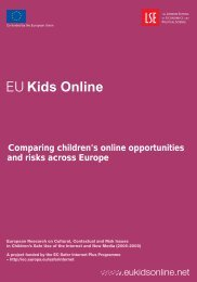 Comparing children's online opportunities and risks across Europe ...