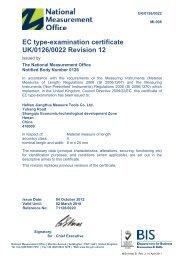 EC type-examination certificate UK/0126/0022 Revision 12 - emetas