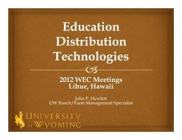 2012 WEC Meetings Lihue, Hawaii