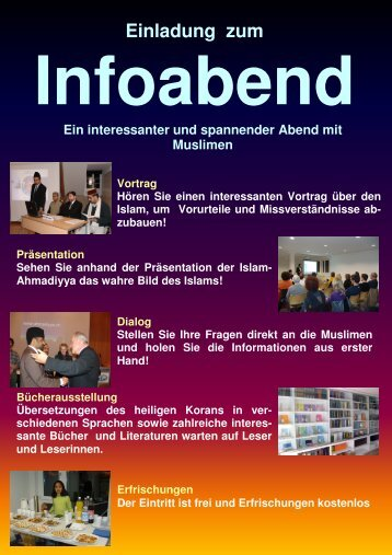 Flyer-Download - Ahmadiyya Muslim Jamaat Schweiz