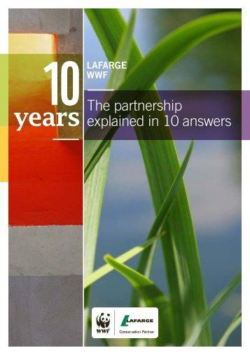 The Lafarge/WWF brochure