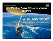 Level 3 40 km Soil Moisture - SMAP - NASA