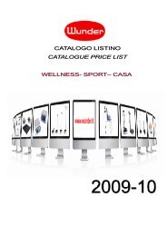 CATALOGUE PRICE LIST www.wunder.it - WTEC