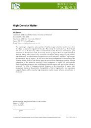 High Density Matter - Department of Physics - University of Oxford