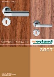 WEYLAND+neue Logos 5.6.2007 12:46 Uhr Seite 1 - Weyland GmbH
