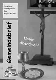 November 2010 bis Februar 2011 - Evangelische Kirchengemeinde ...