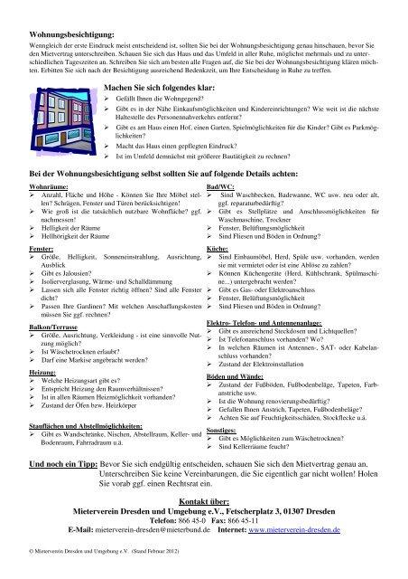 Fragen Bei Wohnungsbesichtigung