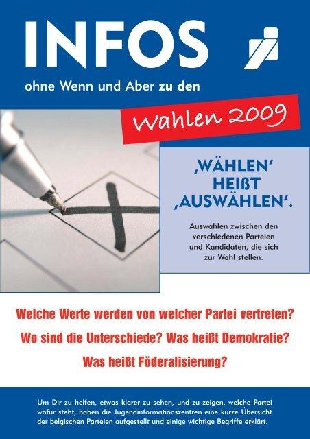 """Broschüre """"Wahlen 2009"""" - Jugendinformationszentren der DG"""