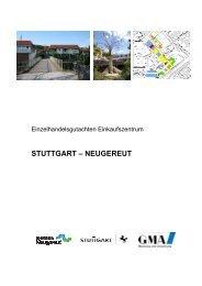 Einzelhandelsgutachten Einkaufszentrum Stuttgart-Neugereut