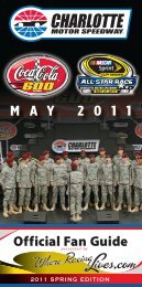 May Event Guide (PDF) - Charlotte Motor Speedway