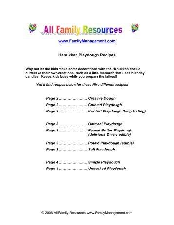 Hanukkah Playdough Recipes - Family Resources