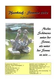 Pfarrbrief – Sommer 2010 - Stift Mattsee