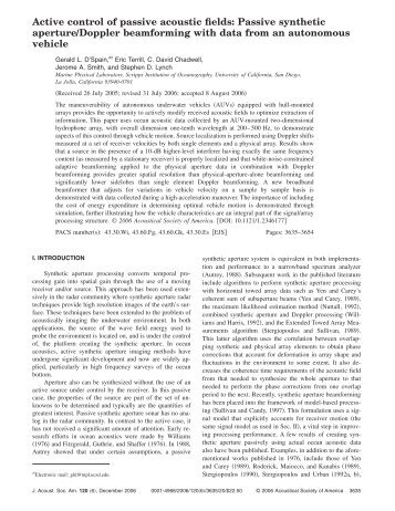 Active control of passive acoustic fields: Passive synthetic ...