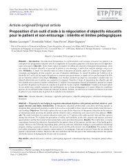 PDF (298.6 KB) - Éducation thérapeutique du patient / Therapeutic ...