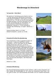 Wanderwege im Almenland