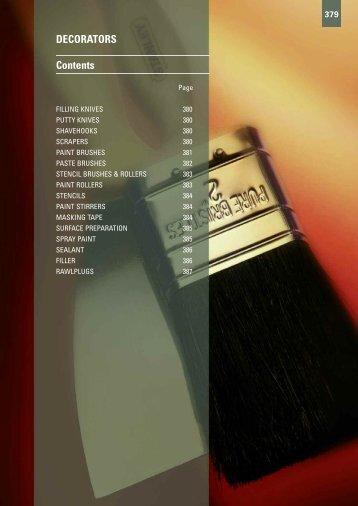 DECORATORS Contents - Gibb Tools