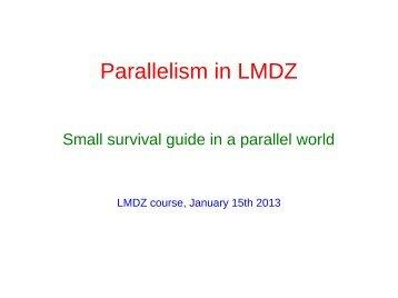 Parallelism in LMDZ