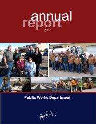 Public Works Department 2011 - City of Brenham