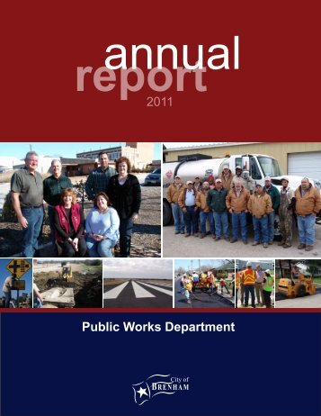 Public Works Department 2011 - City of Brenham