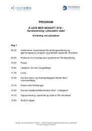 Program Synskurs yrkesaktiv - Helse Bergen