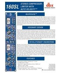 DBX-Data sheet-160SL