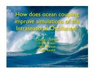 How does ocean coupling improve simulations of the ... - cmmap