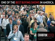 one of the best buying showsin america. - Exhibitor Magazine