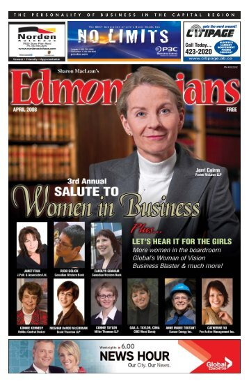 Edmontonians APR 08:Grouped Pages NOV 06 - Miller Thomson
