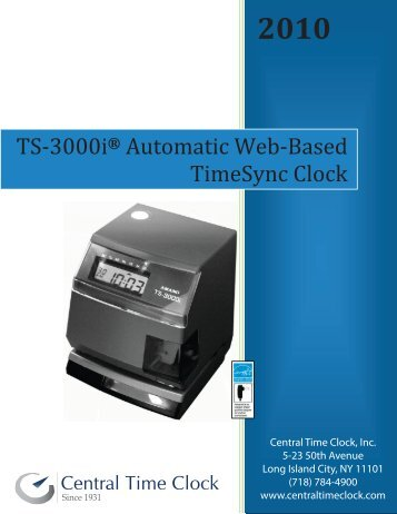 TS-3000i White Paper - Central Time Clock, Inc.