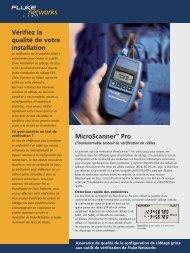 MicroScanner™ Pro - Réseau Direct