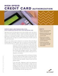 HIGH-SPEED CREDIT CARD AUTHORIZATION