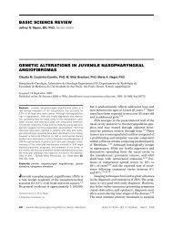 Genetic alterations in juvenile nasopharyngeal angiofibromas