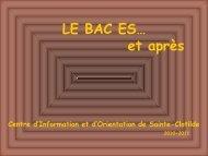 Section ES - Lycée Georges Brassens