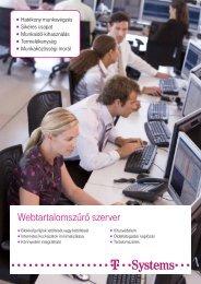 Webtartalomszűrő szerver - T-Systems